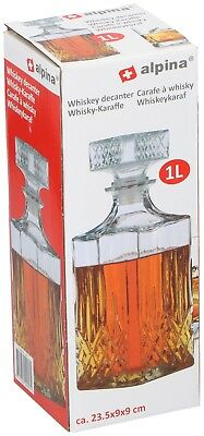 Glass Decanter Whiskey Sherry Brandy Liqueur Decanter 1L Glass Decanter