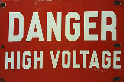 Danger High Voltage Weathered Building Diorama Sign Decal 3X2 Dd141