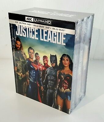 JUSTICE LEAGUE 2D/3D/ 4K Blu-ray STEELBOOK 1-CLICK BOXSET [MANTA LAB] <#036/400>