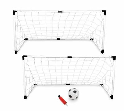 Best Youth Soccer Goal Goalie Net With Soccer Ball Pump Set of 2 Outdoor Sports