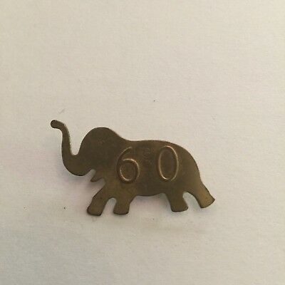 1960 Republican GOP Elephant Brooch Pin
