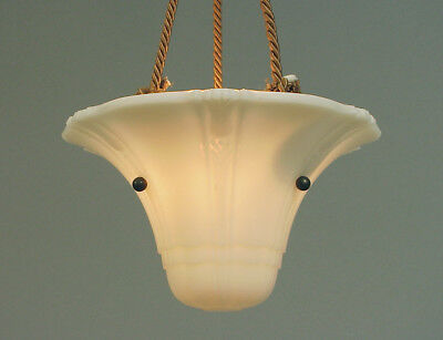 Small Deco hanging pendant-chandelier-ceiling fixture with French Cordelier