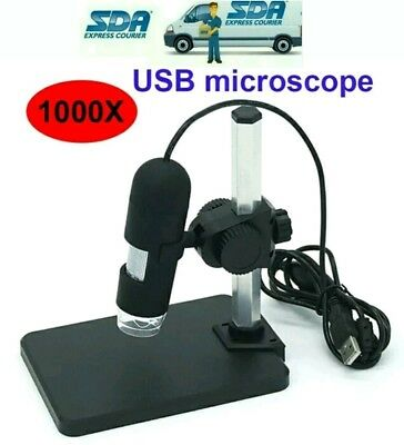 1000X  LED 2MP USB Digitale Microscopio Endoscope Magnifier Camera