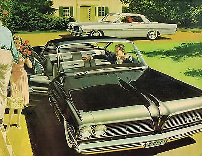 1961 PONTIAC Brochure: BONNEVILLE,STAR CHIEF,VENTURA,CATALINA,SAFARI Wagon,NOS
