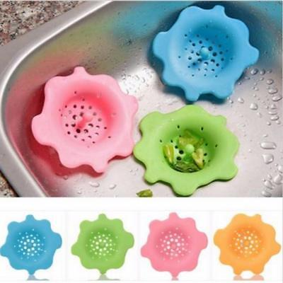 Flower Shape Silicone Kitchen Tools Wash Drain Sink Strainer Hair Stopper Filter