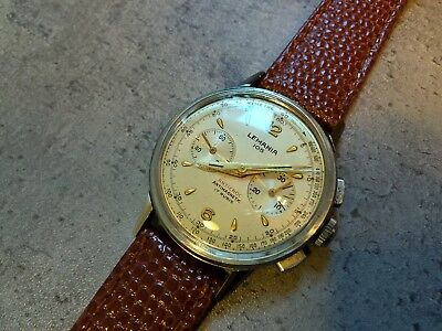 Vintage 1950s Lemania 105 Chronograph Swiss Mens Watch Cal 1275 Great Condition