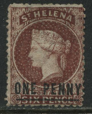 St. Helena QV 1868 1d on 6d brown red unused no gum