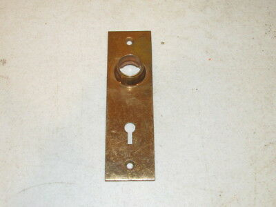 Antique Bronze Door Knob Back Plate w/ Skeleton Key VFC Marked PatApl'd For 0525