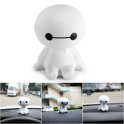 Cartoon Baymax Robot Shaking Head Figure Car Ornaments Interior Desk Decor Gift