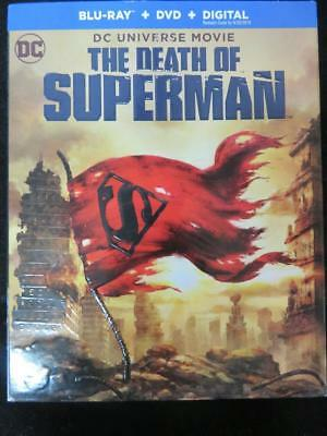 DC Universe Movie The Death of Superman Blu-Ray + DVD + Digital Sealed w/ Cover
