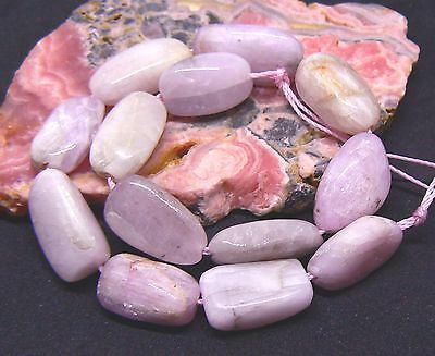 13 NATURAL CHATOYANT PINK AFGHAN KUNZITE NUGGET BEADS 153cts 16-20mm 9.25""