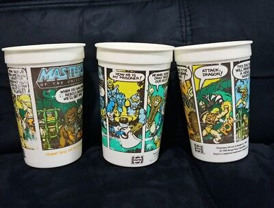 Vintage 1985 Burger King Masters Of The Universe he man cup