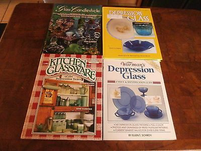 Lot of 4: Collectors Books & Price Guide Glassware & Depression Glass G Florence