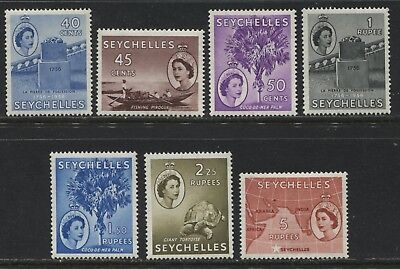 Seychelles QEII 40 cents to 5 rupees inclusive mint o.g.