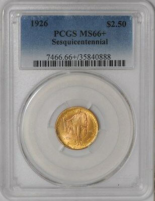 1926 $2 1/2 Gold Sesquicentennial #936806-54 MS66+ PCGS