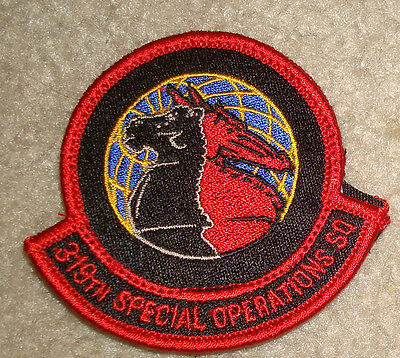USAF,PATCH, 319TH SPECIAL OPERATIONS SQUADRON, WITH hook tape fastener