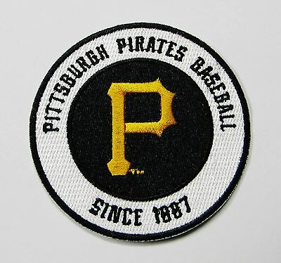 """Lot Of (1) Mlb Baseball Pittsburgh Pirates Embroidered Patch 3 1/2"""" Item # 64"""
