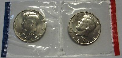 1989-P and 1989-D Gem BU Kennedy Half Dollars in Original Mint Cello Packs