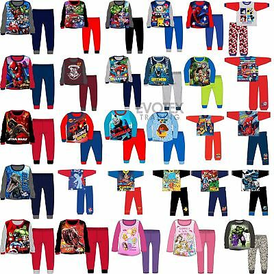 Boys Girls Pyjamas Kids Childrens Long Sleeve Age 1,2,3,4,5,6,7,8,9,10,11,12