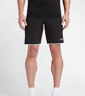 "2B13 Nike Men's Court Flex 9"" Woven Tennis Shorts Black/White 728980-010"