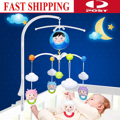 Baby Kids Crib Mobile Bed Bell Rotary Arm Bracket Holder Nursery Accessory ABS