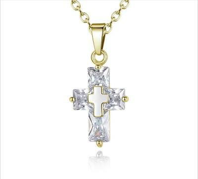 Fashion and beauty of the zircon cross pendant ladies present