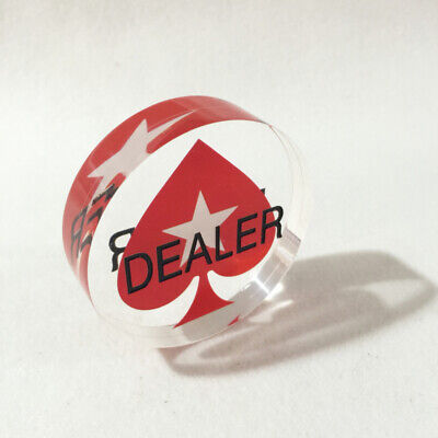 3 Inches Acrylic Casino Dealer Button Texas Hold'Em Poker Card Game