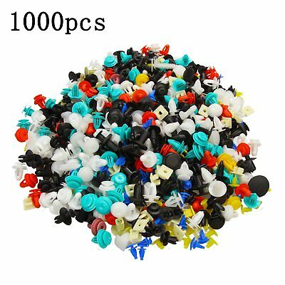 1000PCS Car Door Panel Trim Fenders Bumper Rivet Retainer Push Pin Clips Mixed