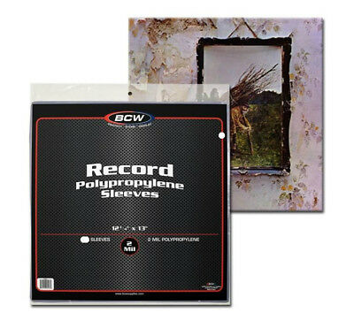 "3 BCW Clear 33rpm Record Polypropylene Sleeves (12-3/4"" X 13"")"