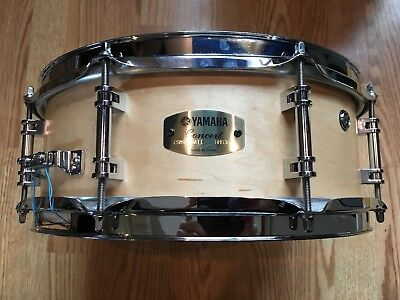 """YAMAHA Concert Series - 13"""" x 5"""" Maple Snare Drum - Matte Natural - MODIFIED HMO"""