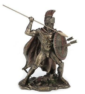 "8.5"" Leonidas Greek Warrior King Statue Sculpture Spartan Soldier Decor"