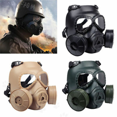 Double Filter Gas Dust Mask Fan CS Edition Perspiration Face Guard Breathable UK