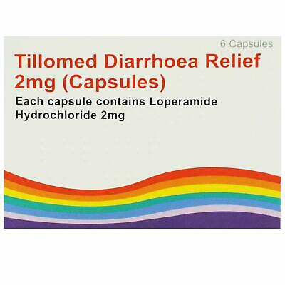 3 x 6 Diarrhoea Relief 2mg Capsules Loperamide Hydrochloride (18 Tablets)