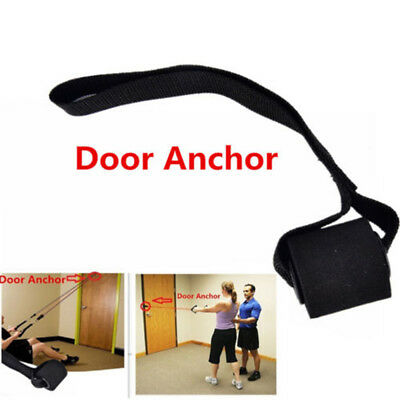 Exercise Yoga Elastic Band Resistance Bands Home Fitness  Over Door Anchor