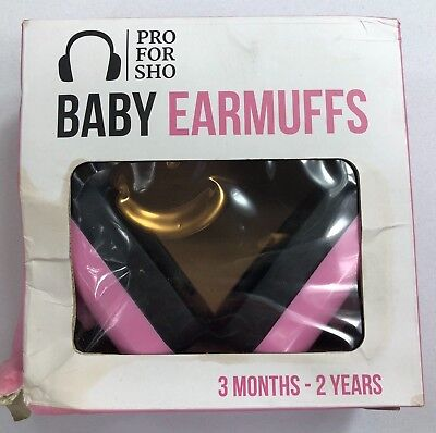 Pro For Sho Pink Baby Earmuffs Hearing Protection For 3 Months-2 Years NEW RC
