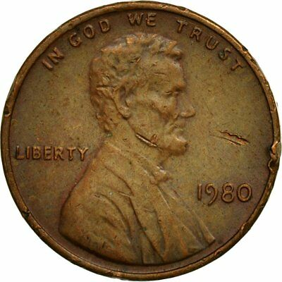 [#438805] Coin, United States, Lincoln Cent, Cent, 1980, U.S. Mint, Philadelphia