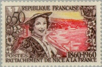 EBS France 1960 Annexation of Nice to France in 1860 MNH** (FR1295)