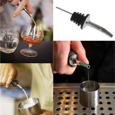 10 PCS Stainless Steel Pourer Liquor Spirit Flow Wine Bottle Pour Spout Stopper
