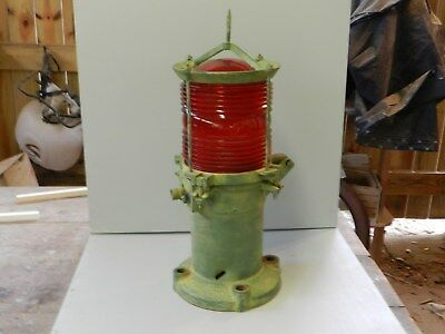 Vintage Very cool Large USCG Lamp Light Red