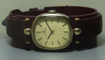 Genuine Ladies Vintage CYMA Winding Swiss Made Wrist Watch R482 Used Antique