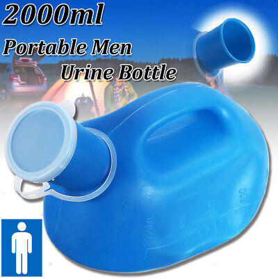 CO_ 2000ML Outdoor Urine Bottle Male Mens Pee Urinal Storage Camping Portable Ey