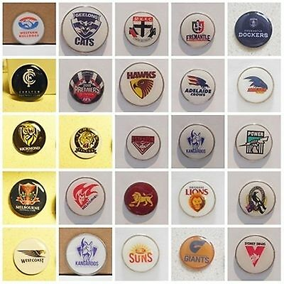 Golf Ball Markers (Large 25Mm) Geelong, St Kilda, Carlton,west Coast,freemantle