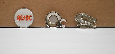 1 only AC/DC GOLF BALL MARKER  &  HAT CLIP