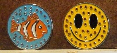 1 only  FISH GOLF BALL MARKER TO GO WITH A HAT CLIP