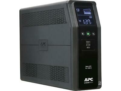 APC BR1000MS 1000 VA Pure SineWave 10 Outlets 2 USB Charging Ports Back-UPS Pro