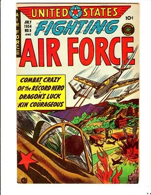United States Fighting Air Force 9 (1954): FREE to combine- in Fine condition