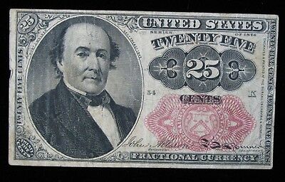 1874 25 Cents Fractional Currency Note * US Paper Money