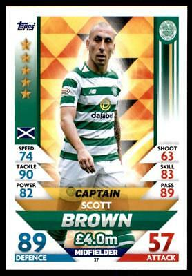 Match Attax SPFL 2018/19 Scott Brown Celtic Captain No. 27