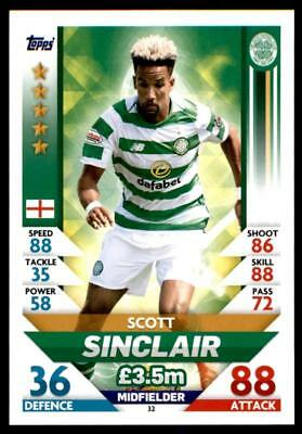Match Attax SPFL 2018/19 Scott Sinclair Celtic No. 32