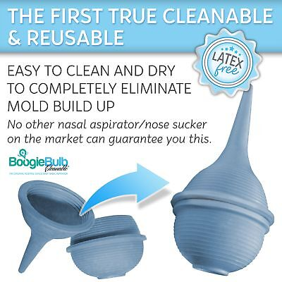 BoogieBulb Baby Nasal Aspirator and Booger Sucker for Newborns Toddlers  Adult -